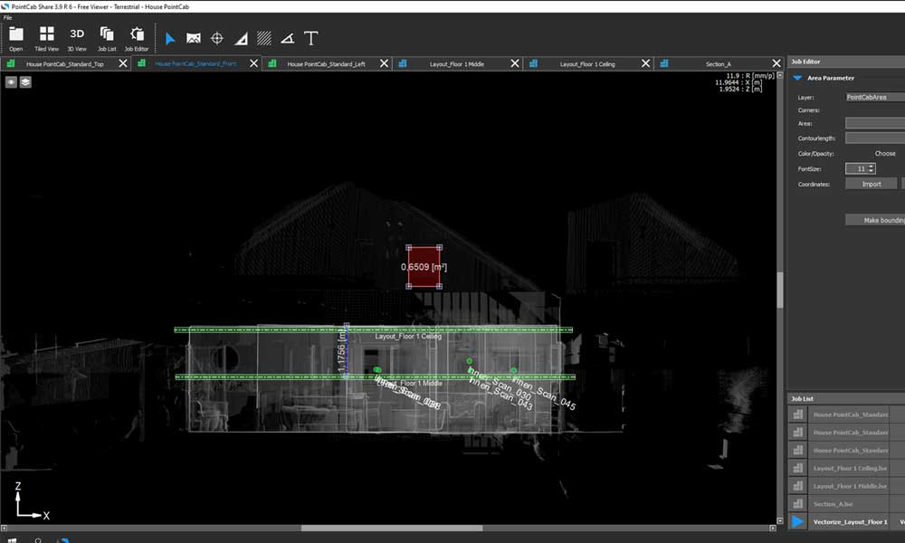 point cloud viewer sample data, punktwolken viewer